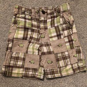 Plaid turtle Gymboree shorts